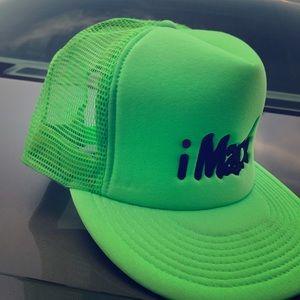Neon green trucker